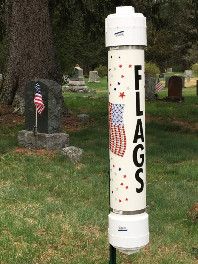 Flag Disposal Tubes for Cemeteries
